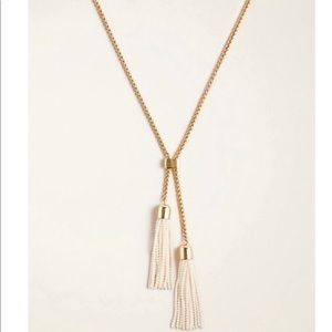Ann Taylor double pearlized pendent necklace